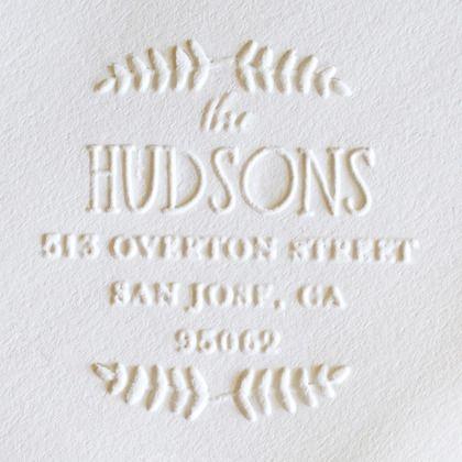 embosser personalized stationery | weddingpaperdivas