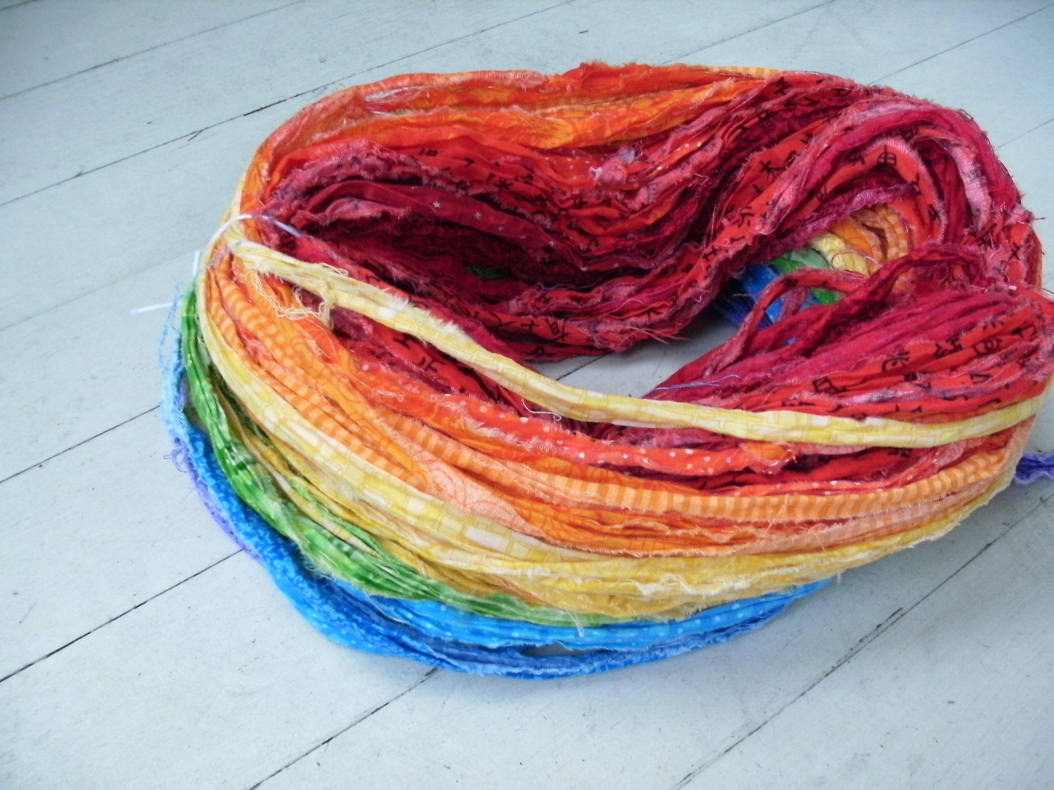 Cute fabric free knit pattern strip fav