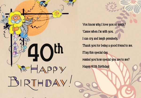 Happy birthday card messages 40th hairstylewomens pinterest happy birthday card messages 40th bookmarktalkfo Choice Image