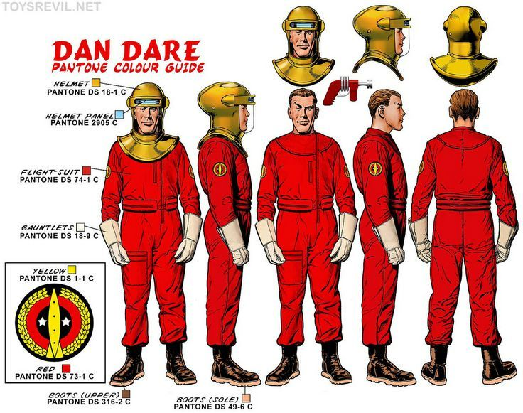Dan Dare designs by Chris Weston for new model kits a few years back