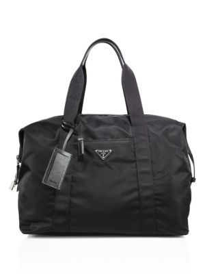 82ee3d7b395c PRADA Sacca Weekender Duffle Bag. #prada #bags #leather #travel bags #nylon  #weekend #metallic #