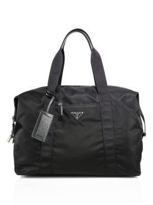 cecadabc98a51a PRADA Sacca Weekender Duffle Bag. #prada #bags #leather #travel bags #nylon  #weekend #metallic #