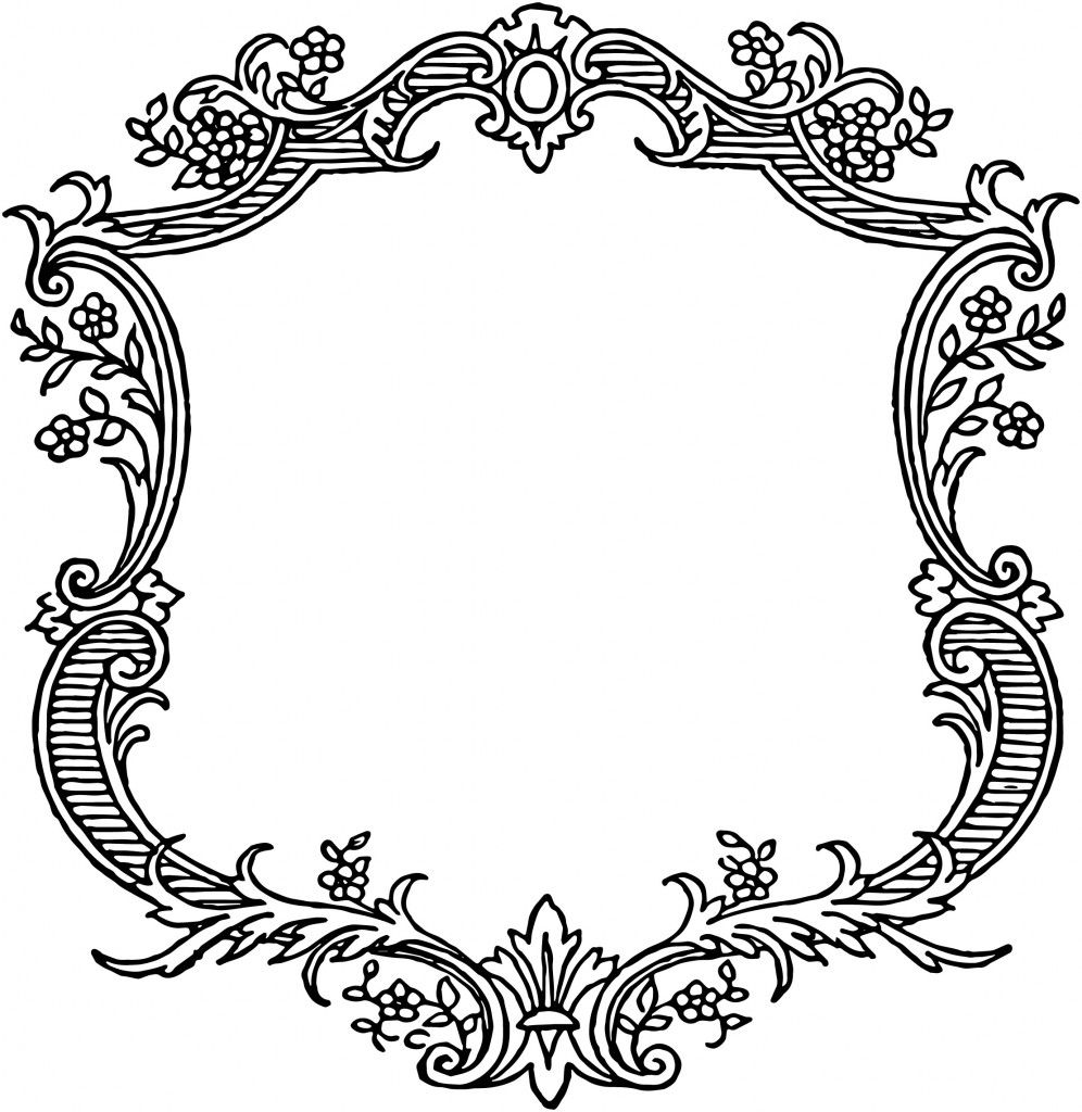Free Vintage Floral Scroll Border Frame | Arabescos | Pinterest ...