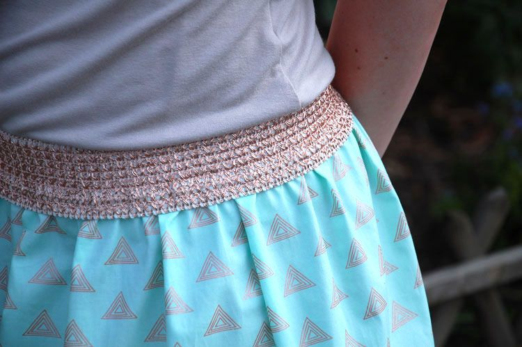 Tuto jupe taille lastique tutoriel griffko agf tutoriels tutorials - Tuto jupe facile elastique ...