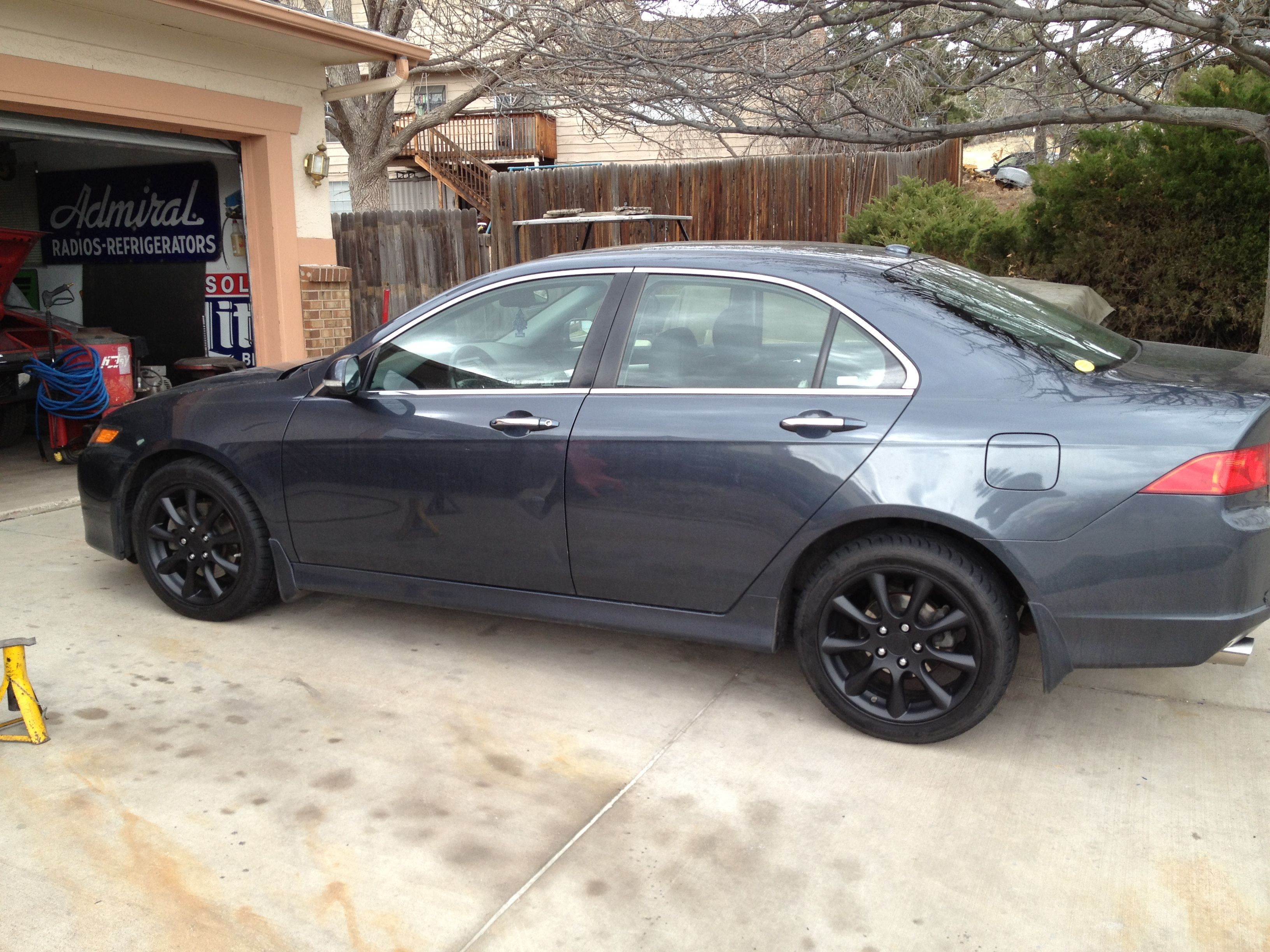 Acura tsx blacked out the rims