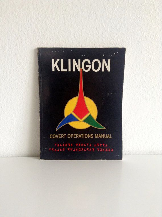 Vintage  SciFi Book Klingon Strike Force Covert Operations