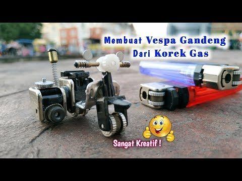 Cara Membuat Miniatur Motor Vespa Dari Korek Gas Ide Kreatif