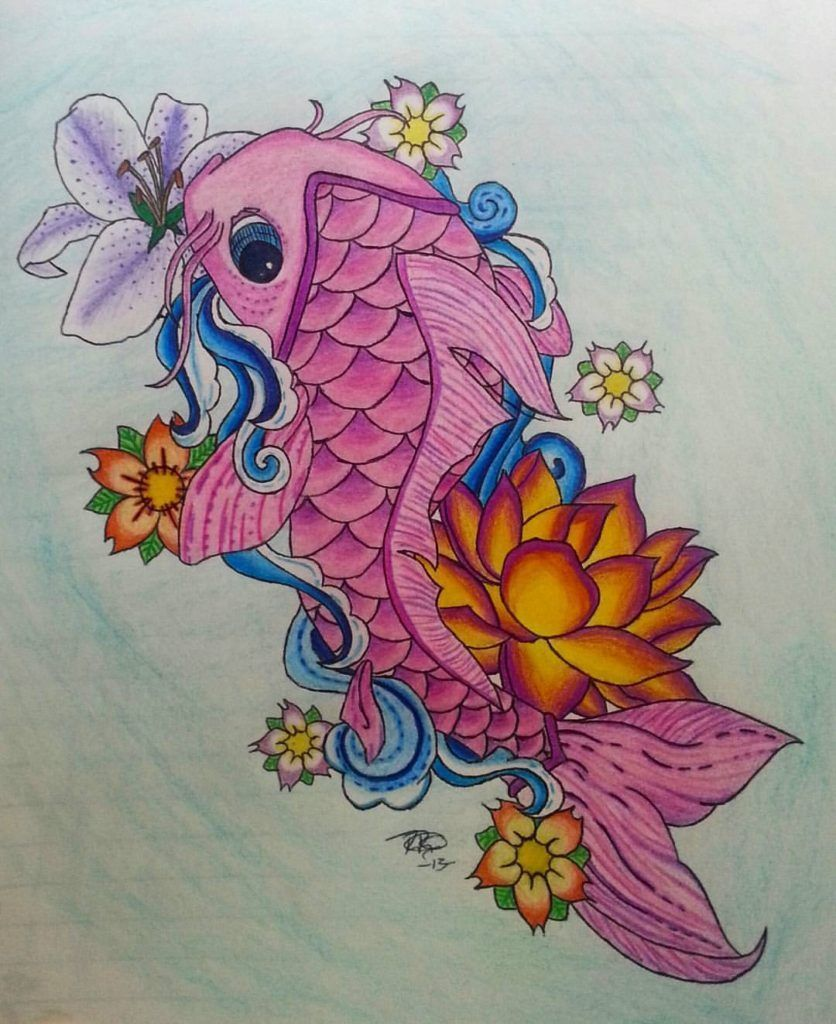 Pin By Hooks53x On Tatted Ideas In 2020 Koi Fish Drawing Fish Drawings Koi Fish Designs