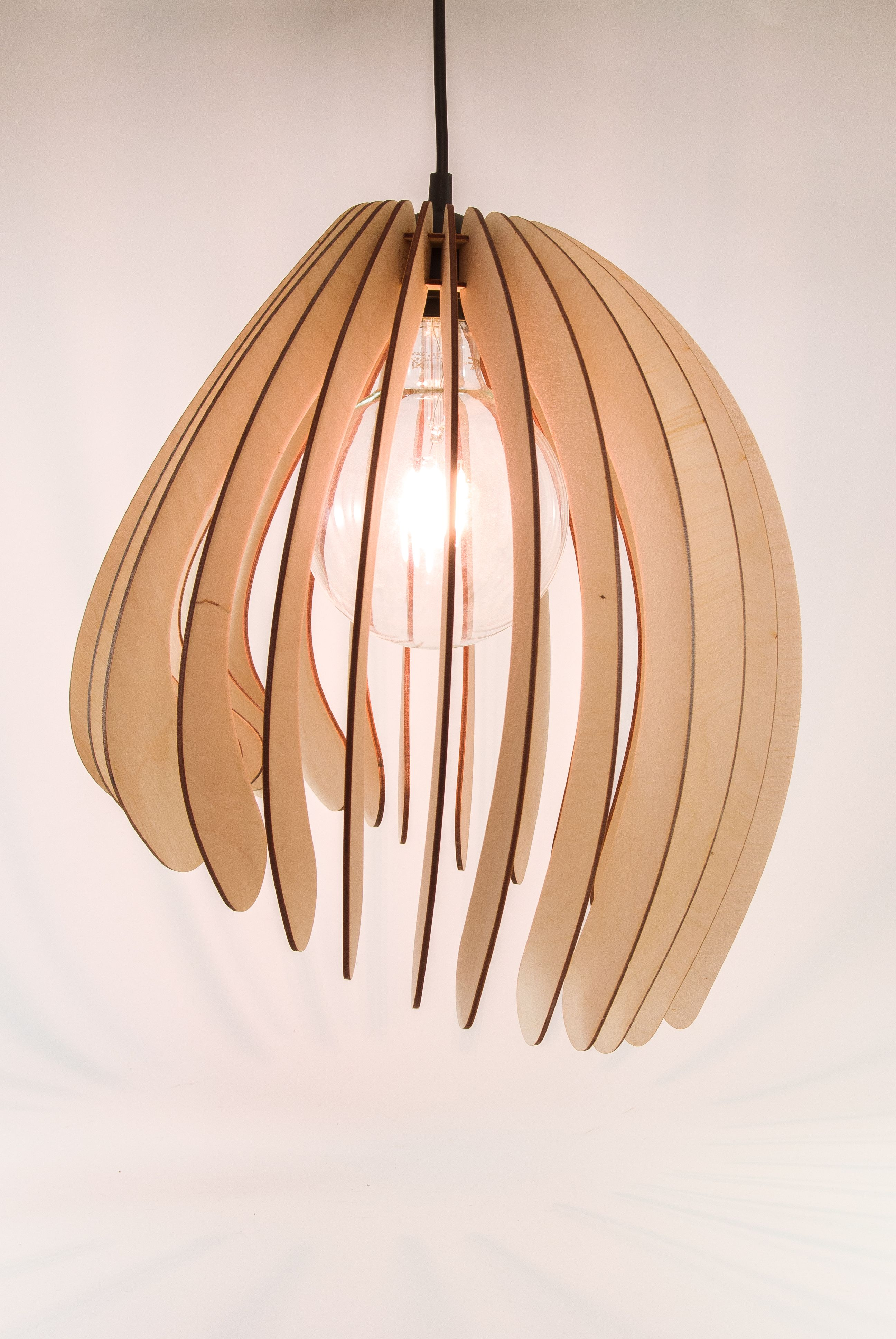 This Amazing Modern Minimalist Wooden Pendant Light Is A Great Choice For Your Living Room Bedroom Or Dining Roo Wooden Lampshade Wooden Lamp Wall Lamp Shades