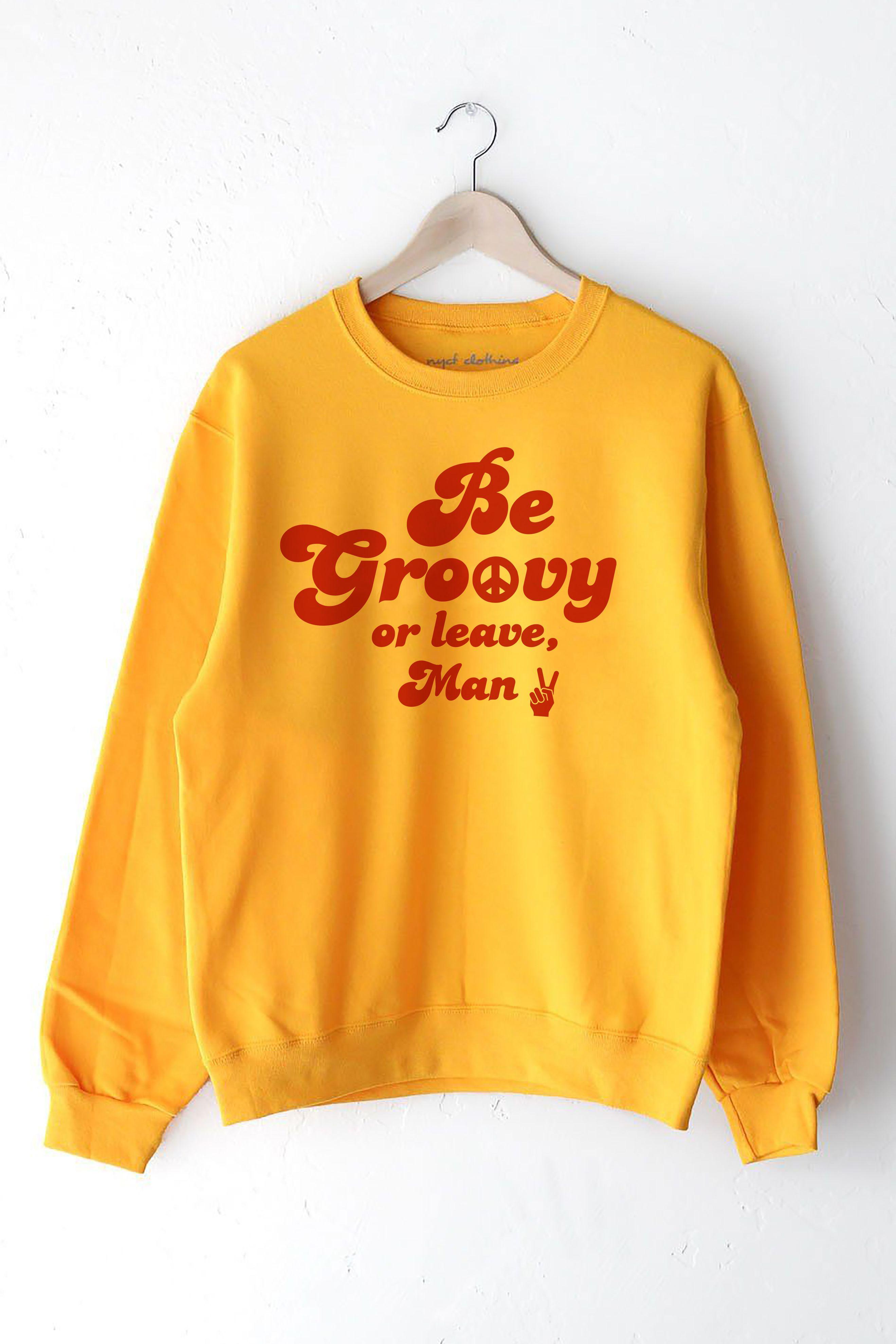 Unisex Groovy Decorations Sweatshirts Crewneck