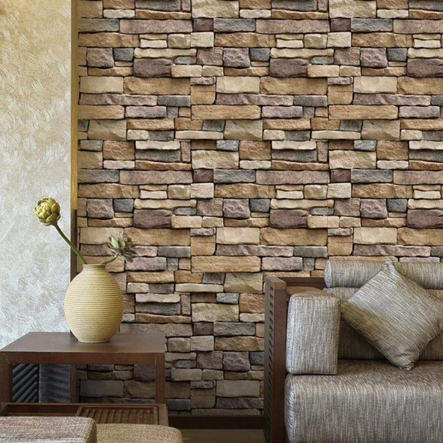 3d Wall Paper Brick Stone Rustic Effect Self Adhesive Wall Sticker Home Decor Hy Unbranded A Wall Stickers Brick Wall Stickers Wallpaper Brick Wall Wallpaper