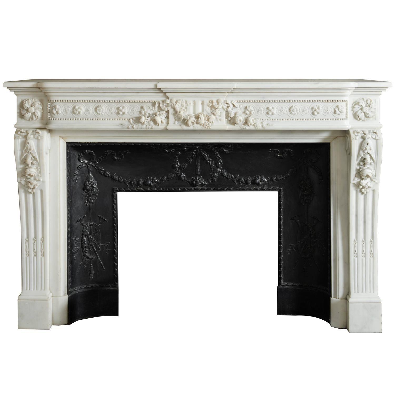 Louis Xvi Mantel With Cast Iron Insert Ny 138 Antique Mantel Modern Fireplace Fireplace Mantels