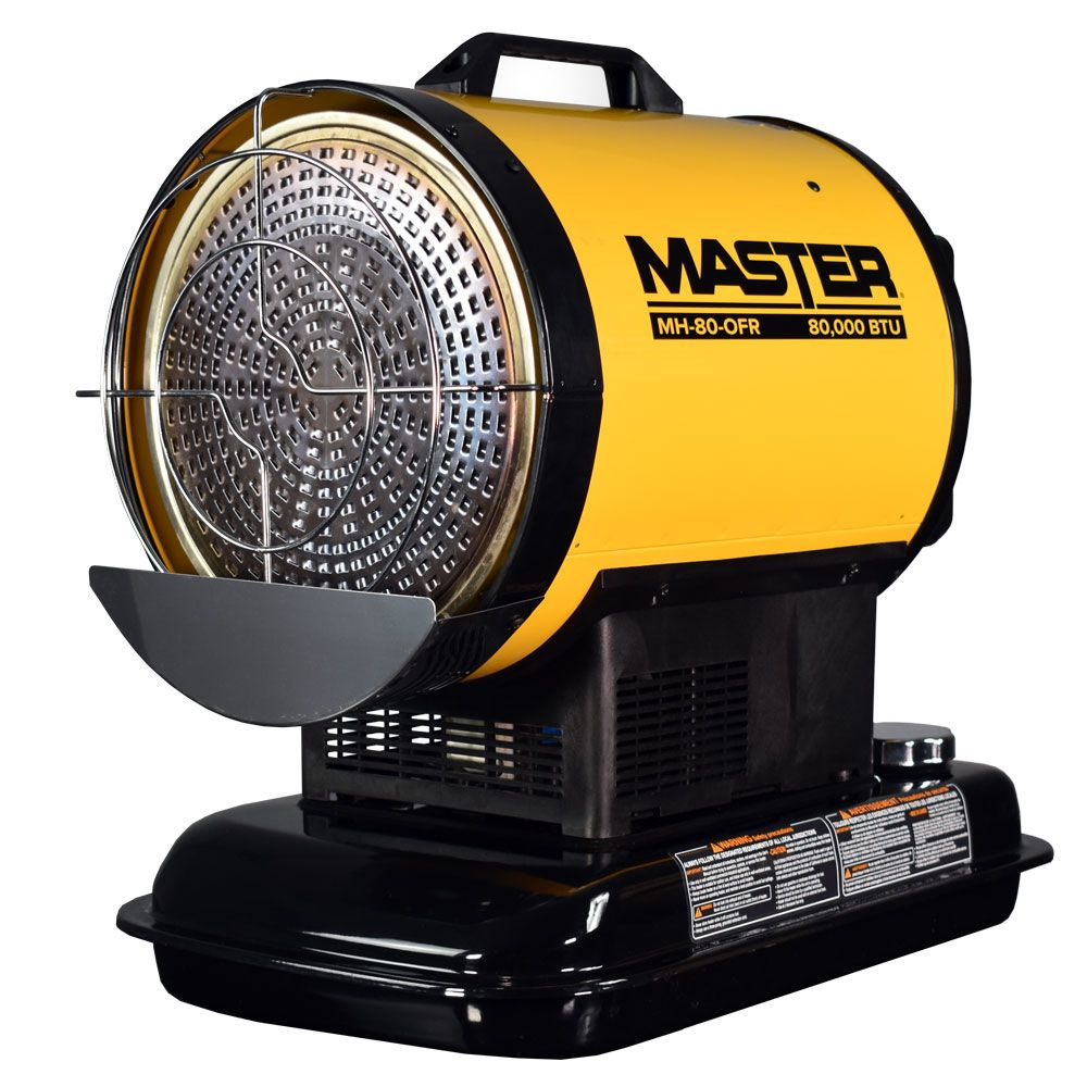The Master® 80,000 BTU kerosene radiant heater is a pro's