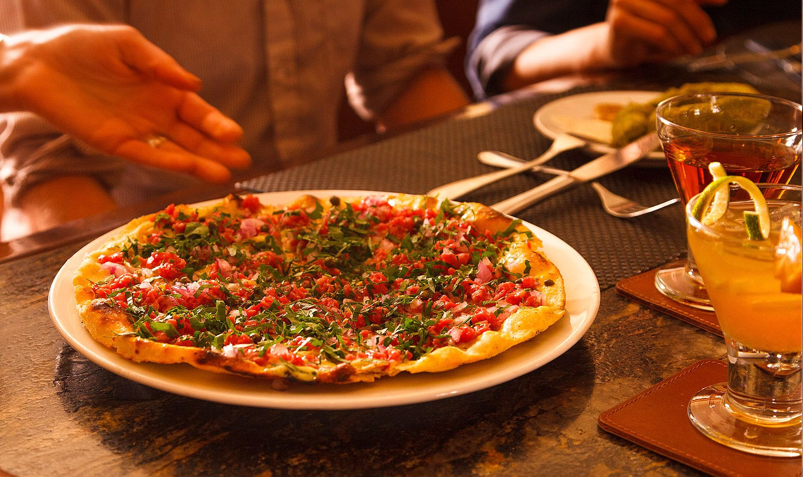 Snake River Grill   Fine Dining In Jackson Hole, Wyoming Steak Tartar  Pizza!!! Yum.