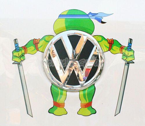 Teenage-Mutant-Ninja-Turtles-Reflective-Car-Sticker-Decal-Fit-VW-Toyota-etc