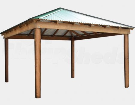 Cheap Sheds | Cheap Sheds Colorbond Gazebo 5m x 3m with 5.6m x 3.6m shade area