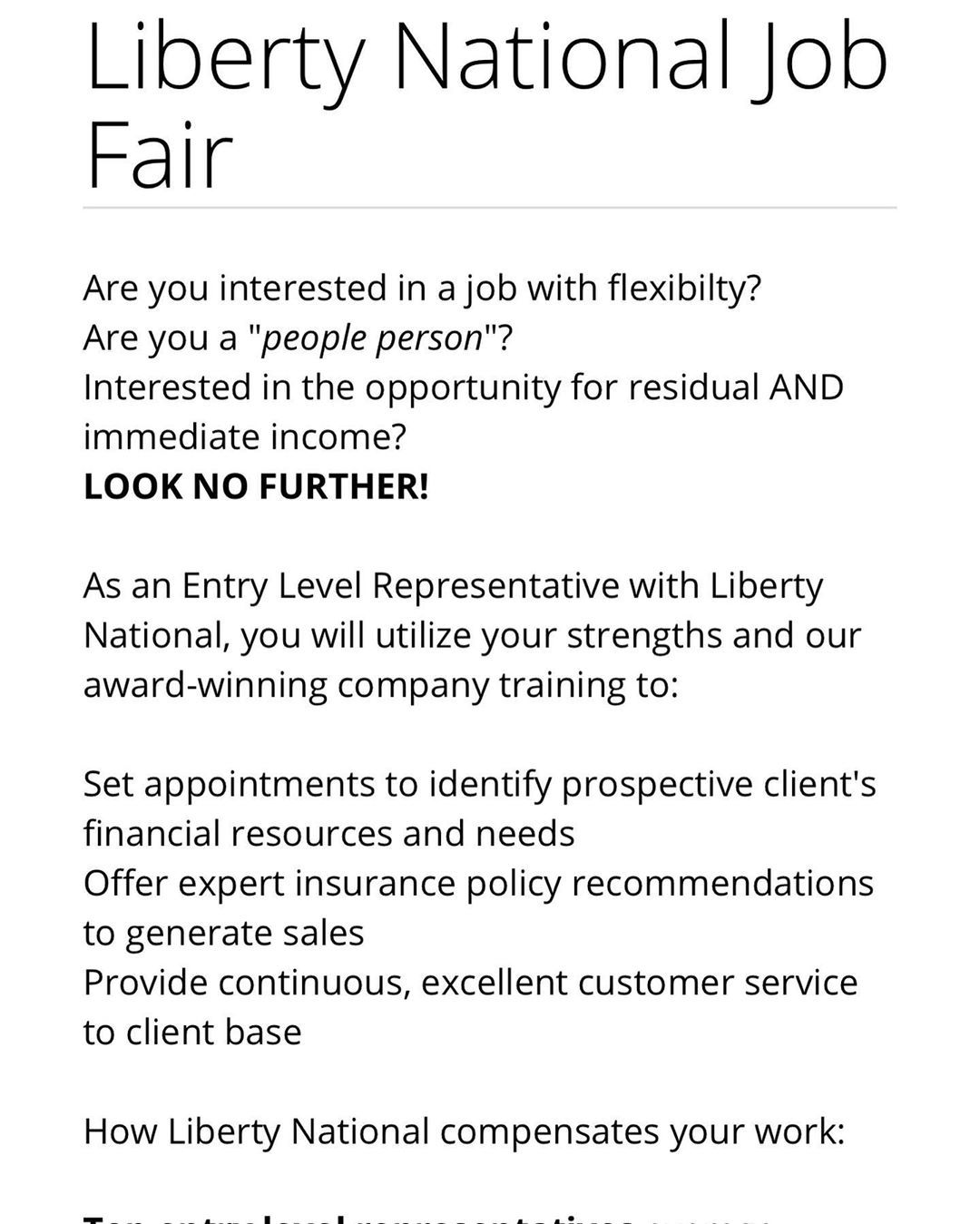 Attention Liberty National Job Fair Please Review The Post Sds Sdsjobagency Sdsja Jobfair2019 Interviews Careerfair2019 Job Fair Job Opening Job