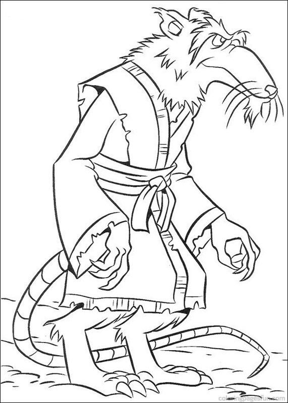 Teenage Mutant Ninja Turtles Coloring Pages 9 | Coloring Pages ...