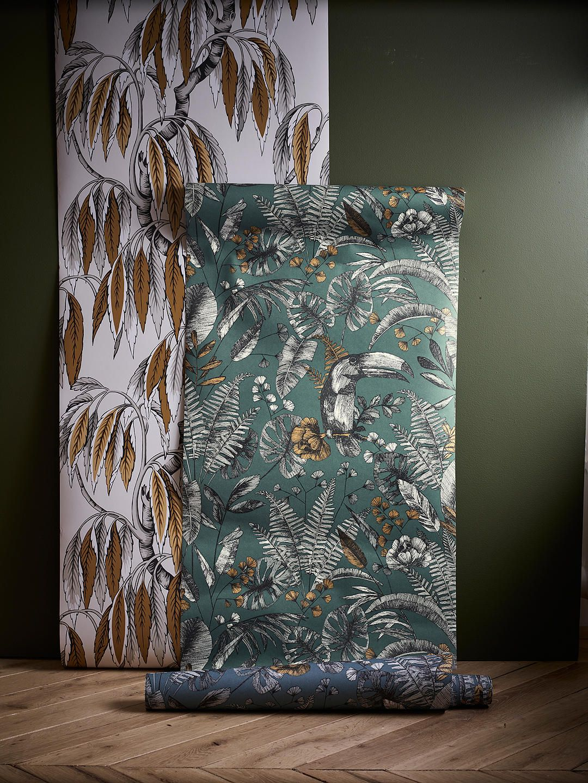 John Lewis Partners Ipanema Heritage Paste The Wall Wallpaper Blue Wall Wallpaper Blue Wallpapers Wallpaper