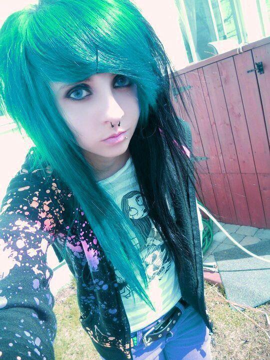 Cute teen emo girl with tattoo