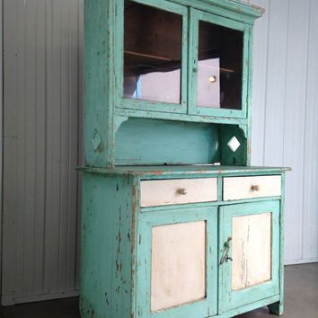 SALE 20% OFF Antique Belgium Turquoise and White Kitchen ...
