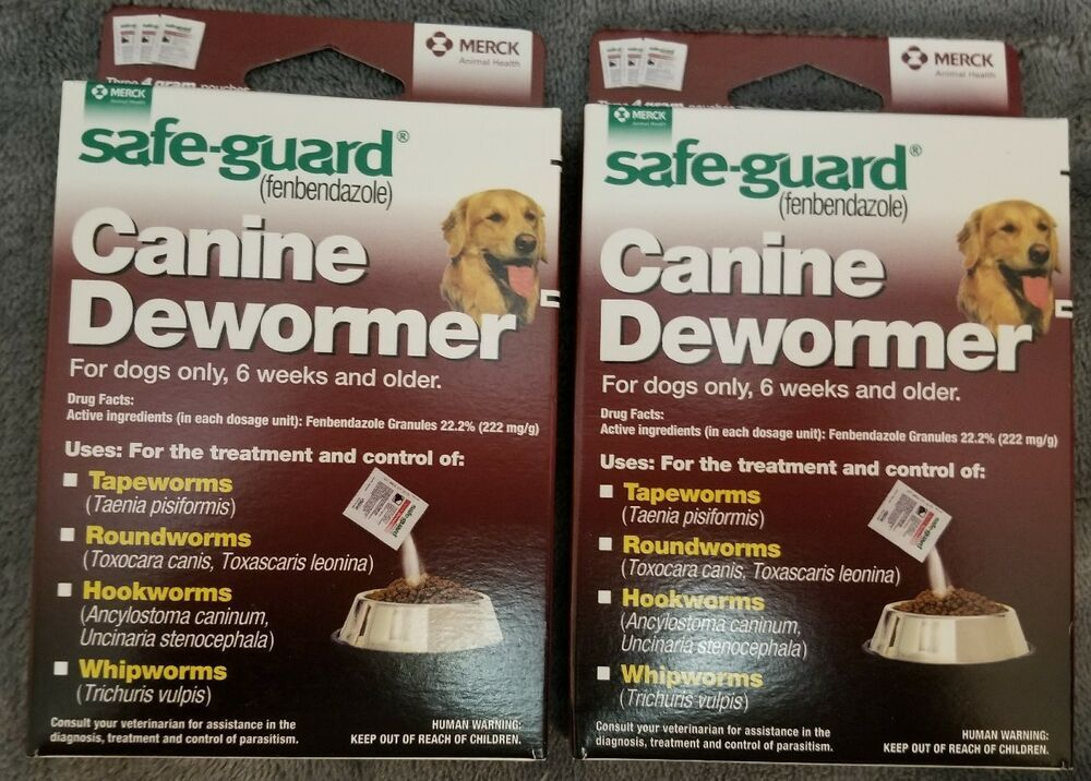2 BOXS Safe Guard dewormer fenbendazole Dogs 40 lbs 4g 3