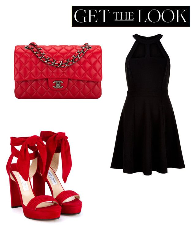 """""""Untitled #5836"""" by ohnadine on Polyvore featuring New Look, Jimmy Choo, Chanel, GetTheLook and Swimsuits"""