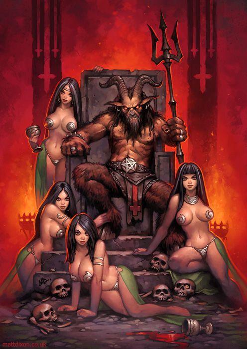 Naked devil girl art