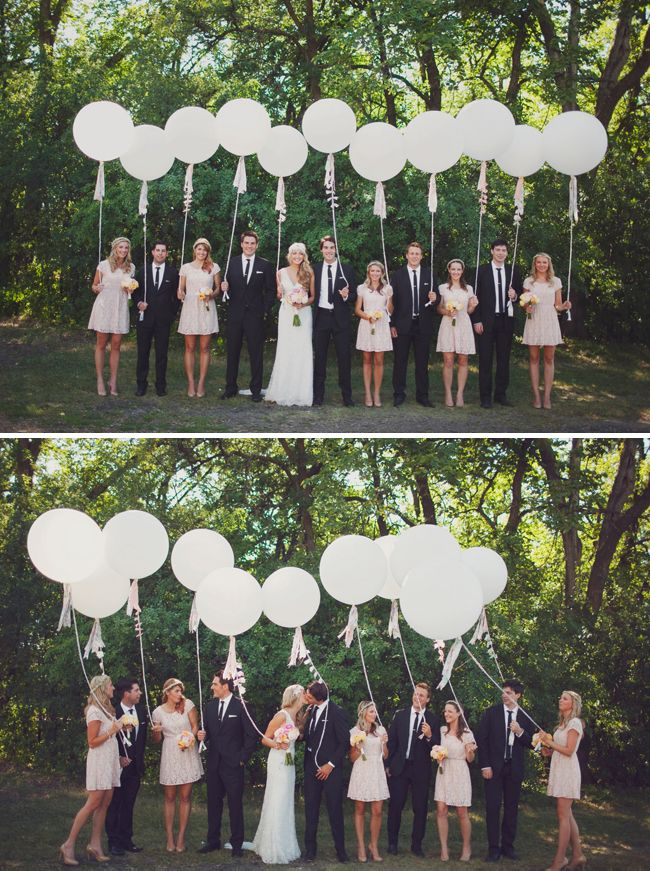 Glen needs to understand that balloons make for such cool pictures balloon wedding dcor ideas 10 fun ways to incorporate balloons into your big day wedding party junglespirit Gallery
