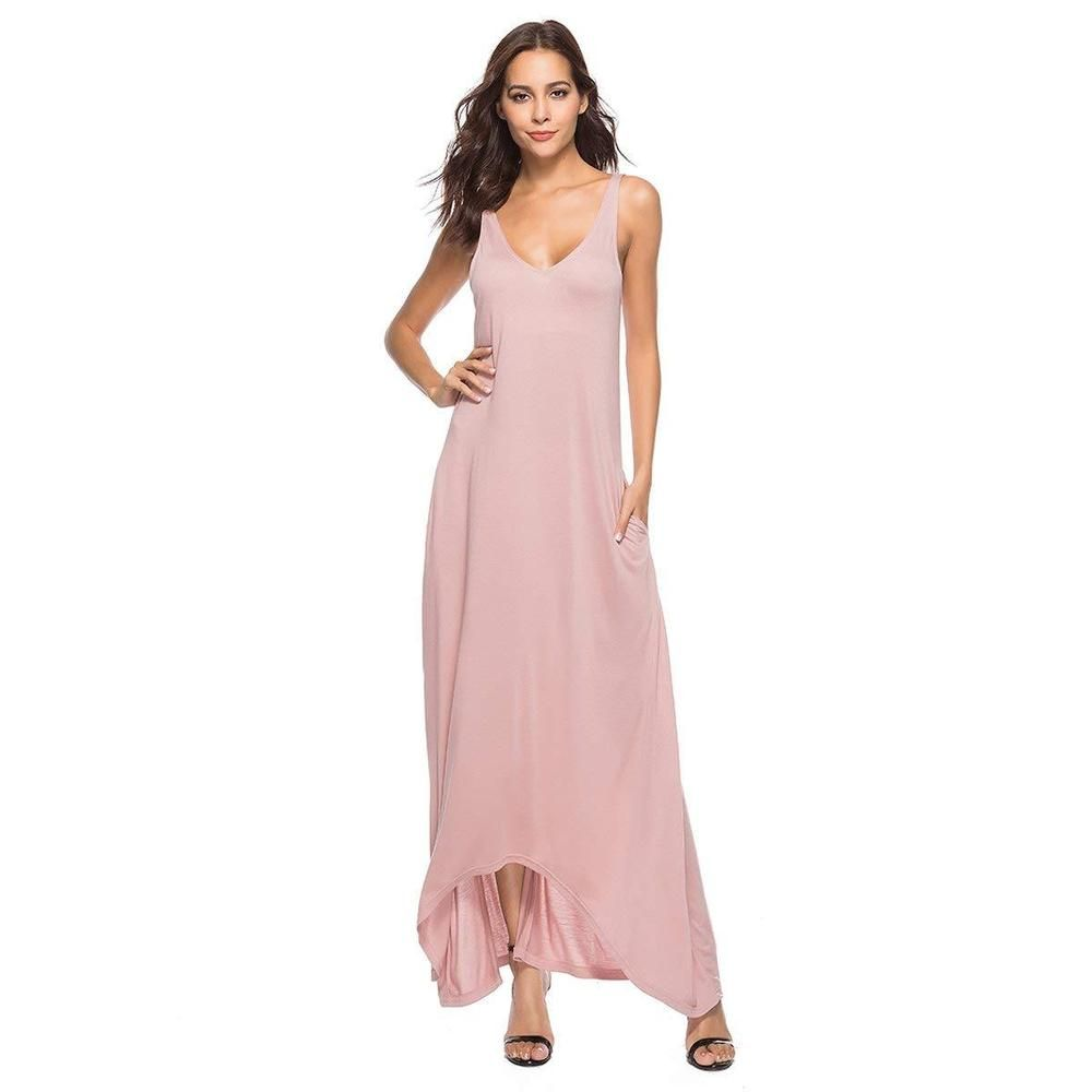 b03986a7a4f01 Zumine Women's Casual V Neck Sleeveless Long Maxi Dresses with Pockets  #fashion #clothing #shoes #accessories #womensclothing #dresses (ebay link)