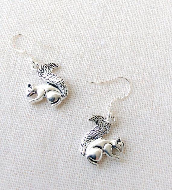 Squirrel Earrings - Sterling Silver NOUA5M