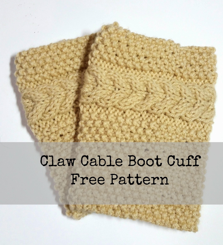 Boot Cuffs Free Knitting Pattern Knit patterns, Patterns and Crochet