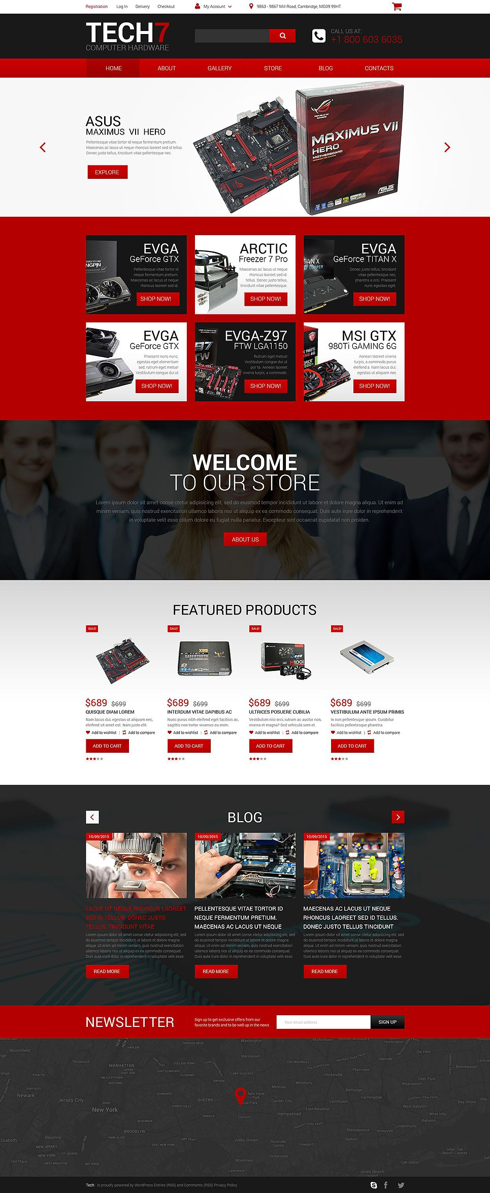 Computer hardware template online web design