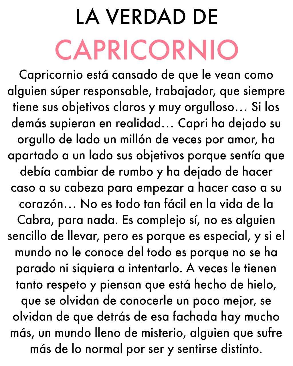 La Verdad De Capricornio Frases Capricorn Zodiac Y Astrology