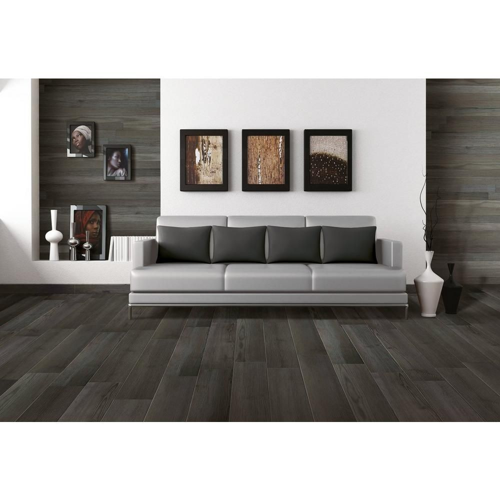 Home Interior Designs By I Nova Infra: Nova Planca Ebenum Wood Plank Porcelain Tile