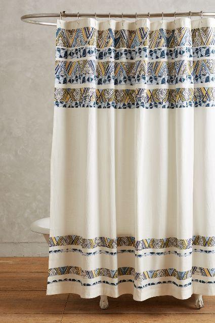 Wax Print Shower Curtain Anthropologie Com Vintage Shower