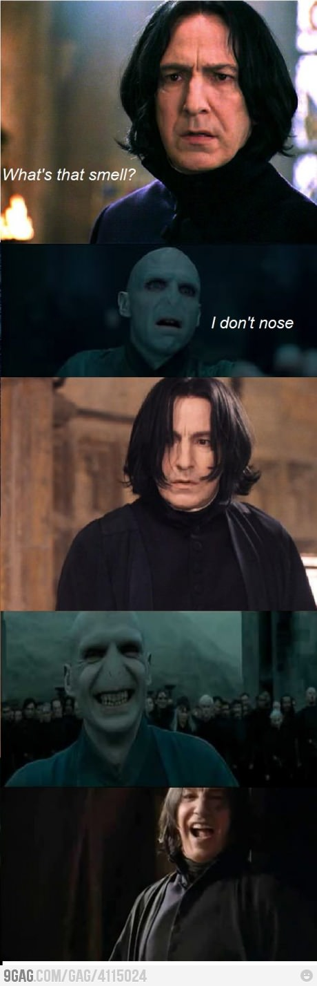 There is no end to the love of Voldemort's-Nose jokes.