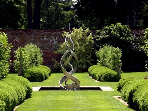 wohlfühl garten edelstahlbrunnen-design arcangel metalwork, Terrassen ideen
