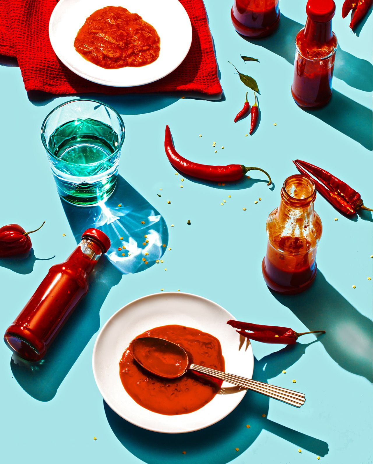 art direction | food styling still life photograhy - Hot Sauce, USA for Fast Company Food photography, food styling #artdirection