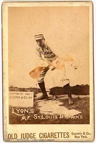 1887 89 Old Judge Cabinets N173 Nno Denny Lyons Front Baseball