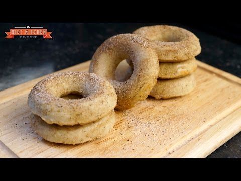 """Healthy Protein Doughnuts Recipe - Cinnamon """"Sugar"""" - The Diet Kitchen 