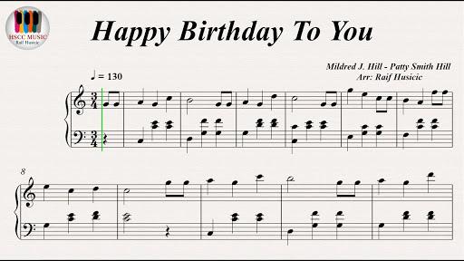 Pesnya Happy Birthday To You Noty Dlya Fortepiano I Slova Music Happy Happy Birthday Song Happy Birthday To You