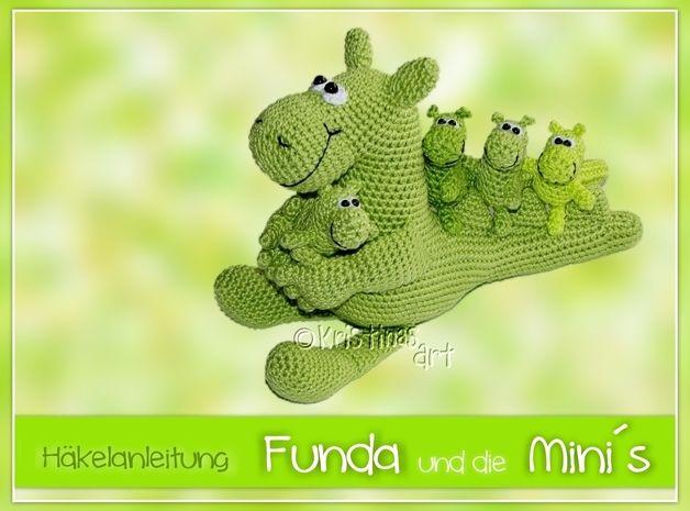 Häkelanleitung ♥ Funda und die Mini´s ♥ Dinos - ein Designerstück von KristinasArt bei DaWanda  Süüüß!