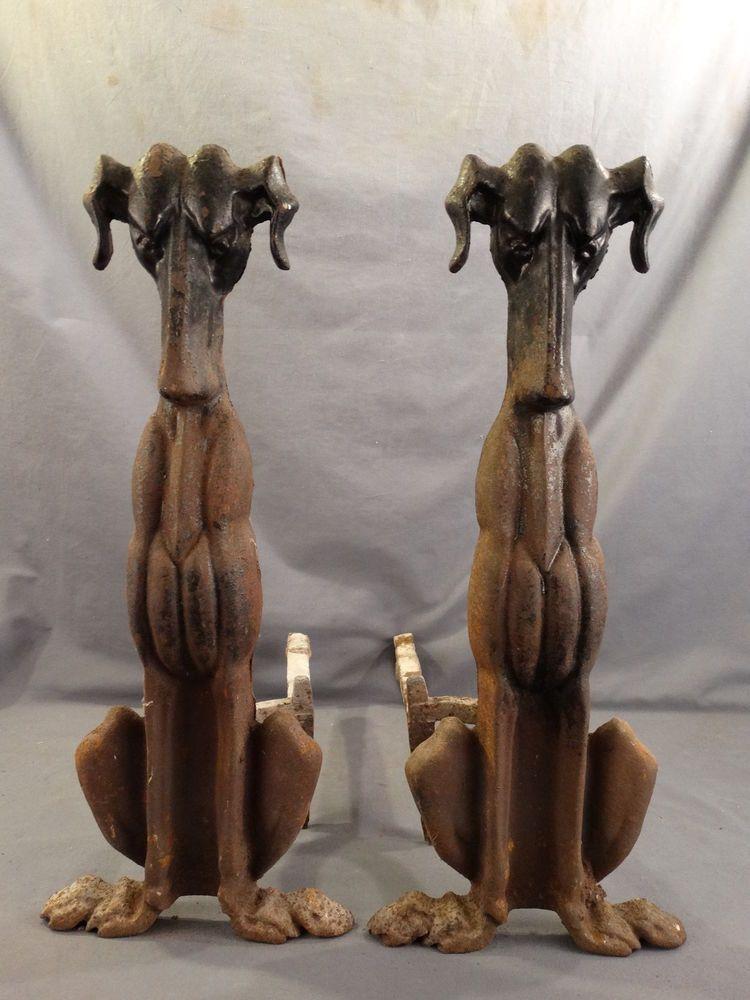 Antique Art Deco Era Hound Dog Figural Cast Iron Old