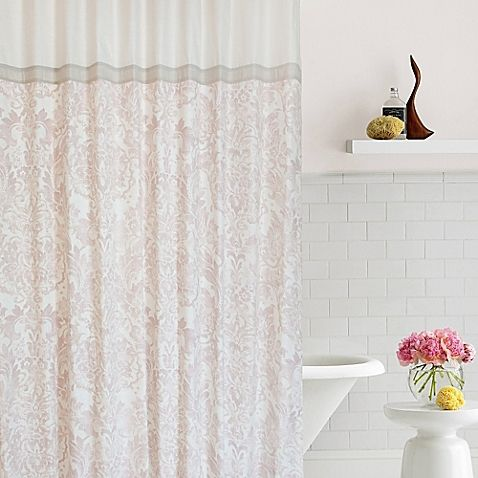 Contrasting blush and ecru hues with a rich pattern from years gone ...