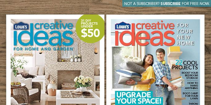 this is a great magazine from lowes many great ideas some easy some - Free Home Improvement Magazines