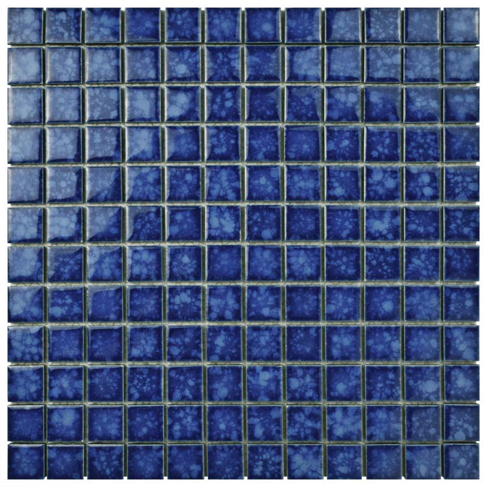 Merola Tile Lagoon Square Pacific 11 3 4 In X 11 3 4 In X 6 Mm Porcelain Mosaic Tile Fyfl1spa The Home In 2020 Porcelain Mosaic Tile Porcelain Mosaic Mosaic Tiles