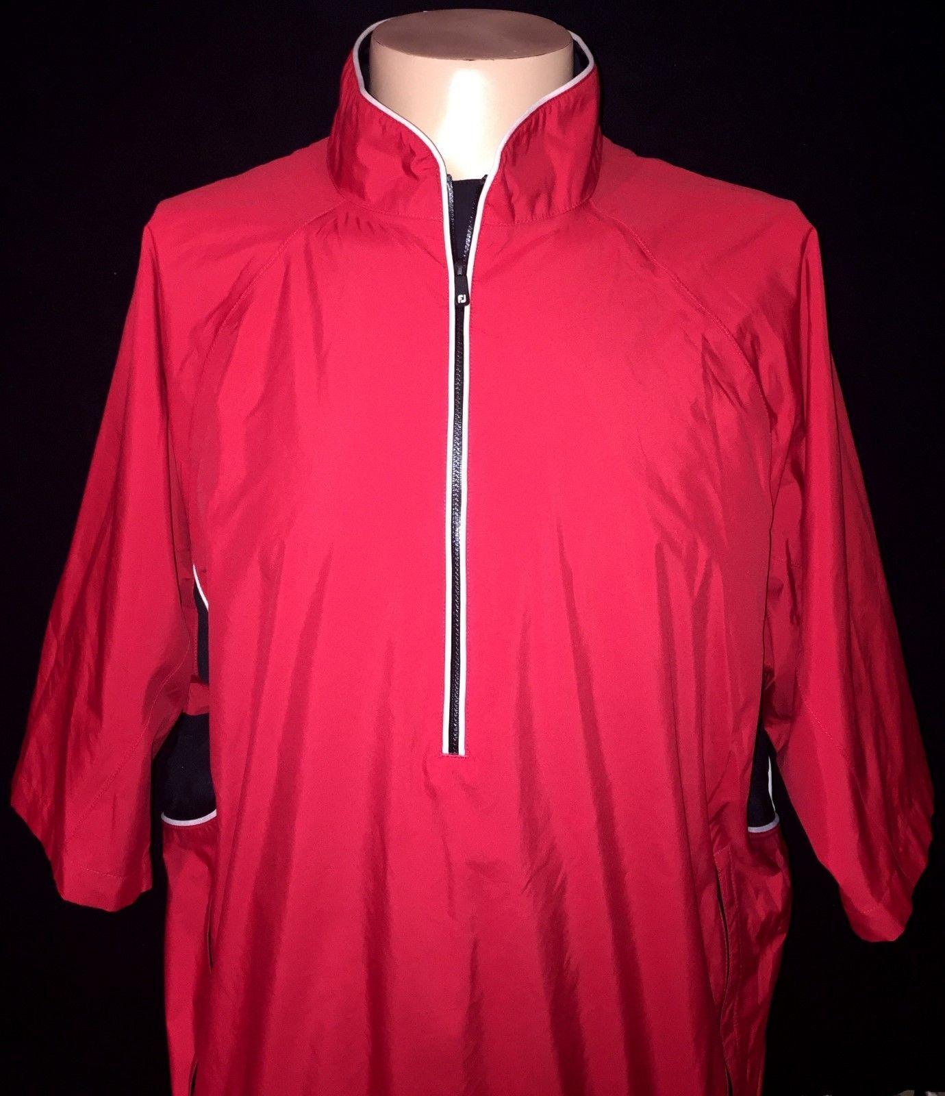 Men's FootJoy Tour Collection Red & Black Short Sleeve Golf Pullover Jacket L https://t.co/DNxjztCZFp https://t.co/6HKZe40tq3