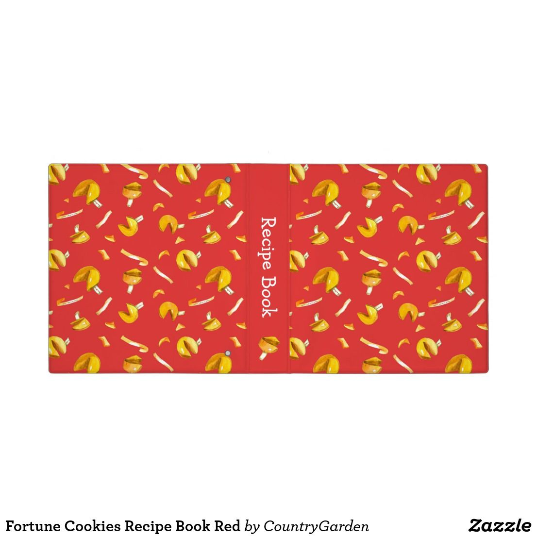 Fortune Cookies Recipe Book Red 3 Ring Binder