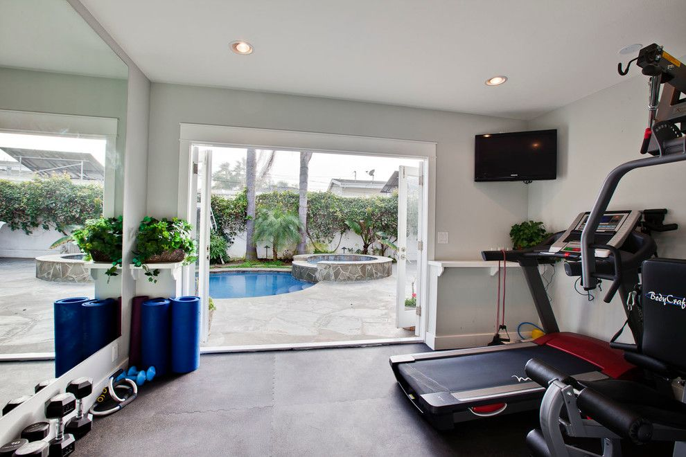 Home Gym Decorating Ideas Part - 19: Gym Decorating Ideas Home Gym Traditional With Mirrors Mirrors
